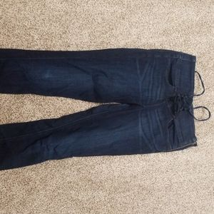 Size 8 express high waisted jeans